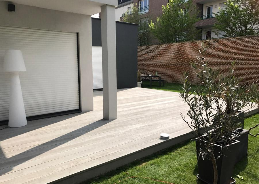 terrasse r sine min rale ch ne gris id parquet. Black Bedroom Furniture Sets. Home Design Ideas